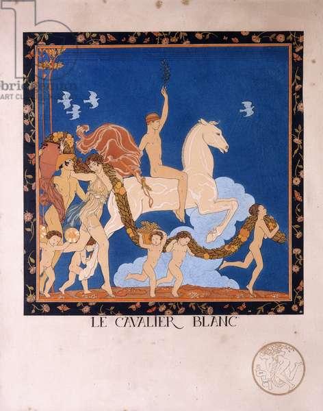 Le Cavalier Blanc, 1912 (colour etching)