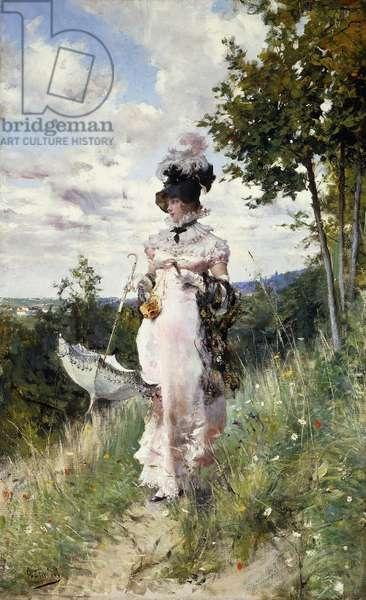 The Summer Stroll, 1873 (oil on canvas)