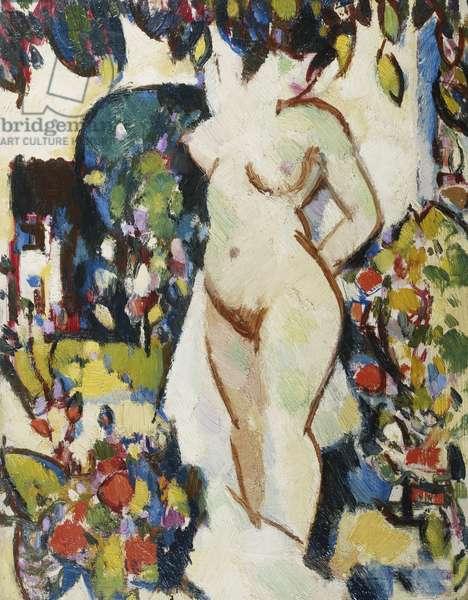 Souvenir de Saintonge, 1916 (oil on board)