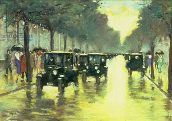 Street Scene (pastel on board)