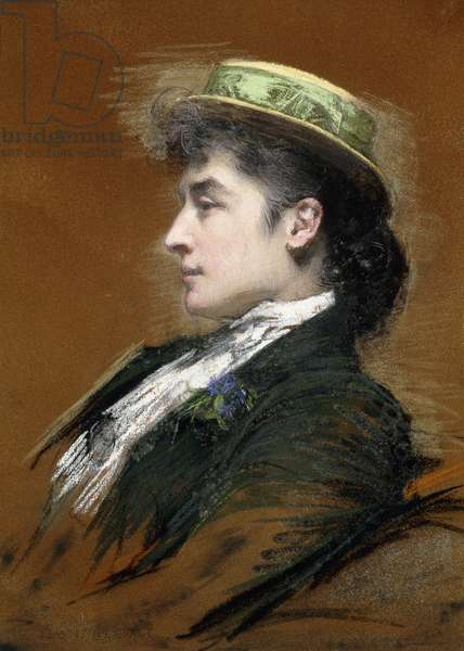 Portrait of Mme. Lebegue, (pastel on prepared canvas)
