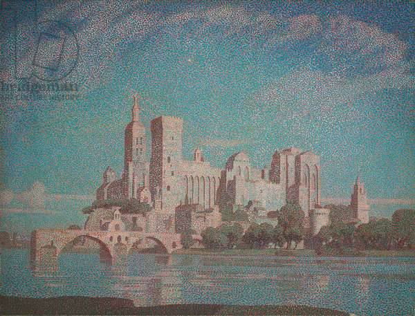 A Summer Night, Avignon (oil on canvas)