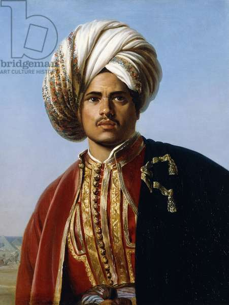 Portrait of an Ottoman Prince, Half Length, in Red and Gold, (oil on canvas)