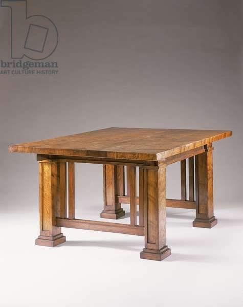 A curly cypress dining table (wood)