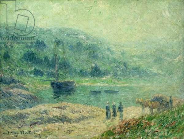 A Cove in Brittany; Crique en Bretagne, 1903 (oil on canvas)