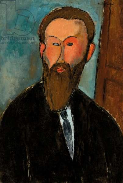 Portrait of the Photographer Dilewski, 1916 (oil on canvas)
