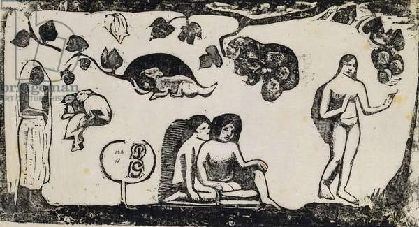 Women, Animals and Foliage; Femmes, Animaux et Feuillages, 1895-1903 (woodcut)