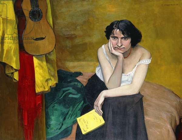 Woman and Guitar; Femme et Guitare, 1913 (oil on canvas)
