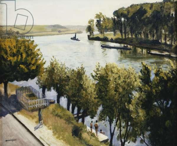 La Seine a la Frette Montigny, c.1947 (oil on canvas)