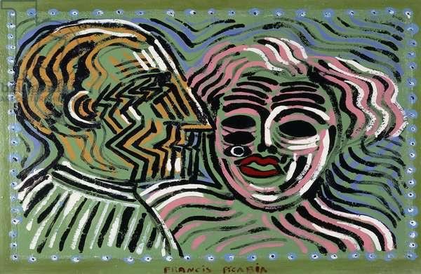 Couple au Profile de Marcel Duchamp, 1924-1927 (oil on board)
