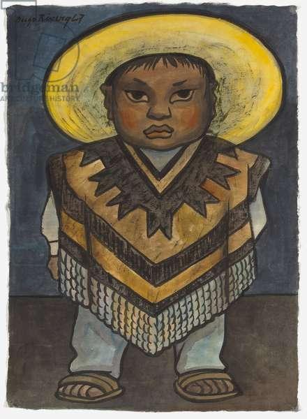 Juanito Estrella, 1947 (watercolour on rice paper)