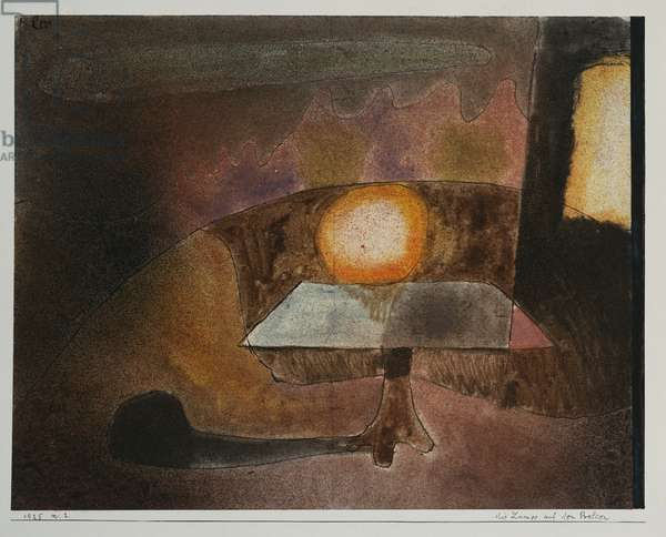The Lamp on the Terrace, 1925 (w/c on paper laid on board)