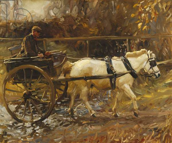 Shrimp and the White Pony, 1909 (oil on canvas)