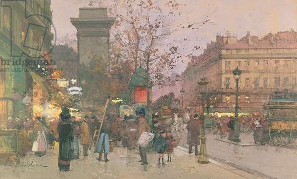 Porte Saint Denis (w/c on paper)