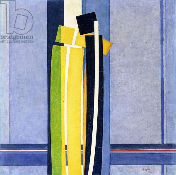 Plans by Curves, 1926-1930 (oil on canvas)