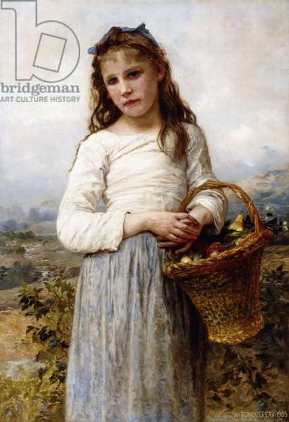A Young Girl with a Basket of Fruit, 1905 (oil on canvas)