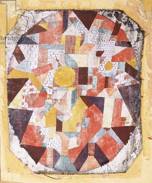 Full Moon within Brickwork, 1919 (tempera, watercolour and ink on gauze)