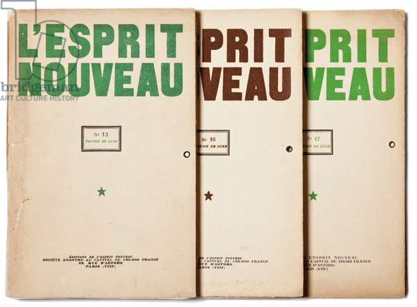 Deluxe edition of numbers 13, 16 and 17 of L'Esprit Nouveau (colour litho)