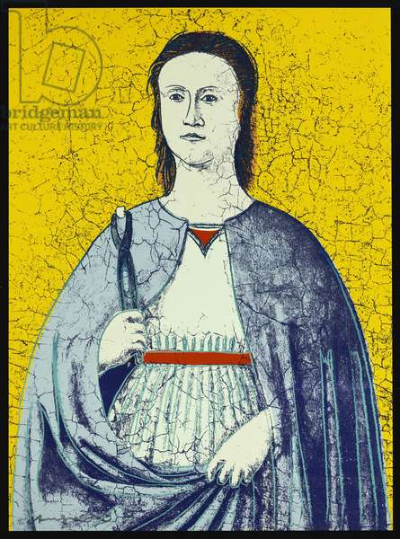 Saint Apollonia, 1984 (colour screenprint)