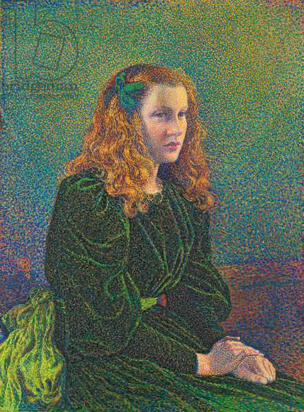 Young Woman in Green Dress, 1893 (oil on canvas)