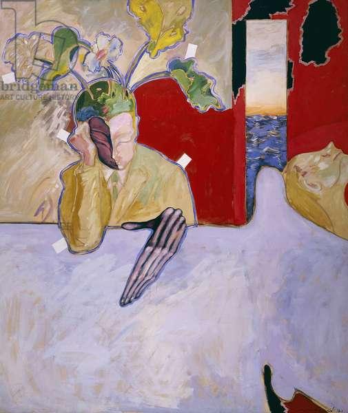 The Psychoanalyst; El Psicoanalista, 1971 (oil on canvas)