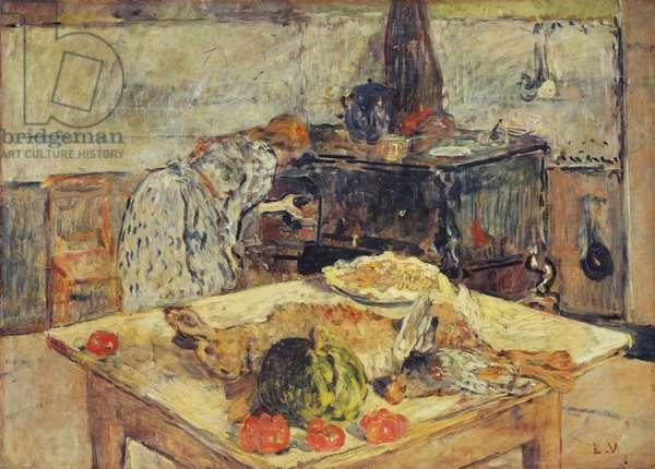 The Kitchen; La cuisine, c.1906 (oil on cradled panel)