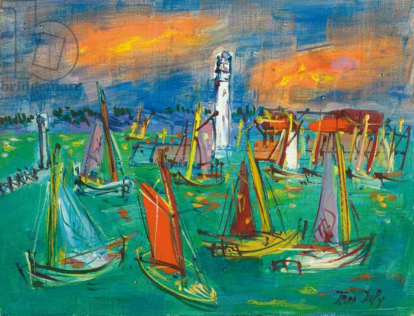 The Yachts  (oil on canvas)