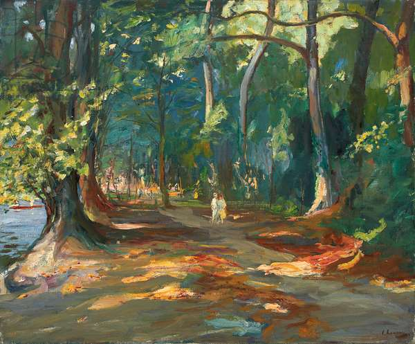 The Path by the River, Maidenhead, 1919 (oil on canvas)