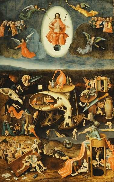 The Last Judgement,  (oil on panel)