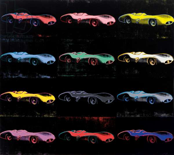 Mercedes-Benz W 196 R Grand Prix Car (Streamlined Version, 1954), 1987 (synthetic polymer and silkscreen inks on canvas)