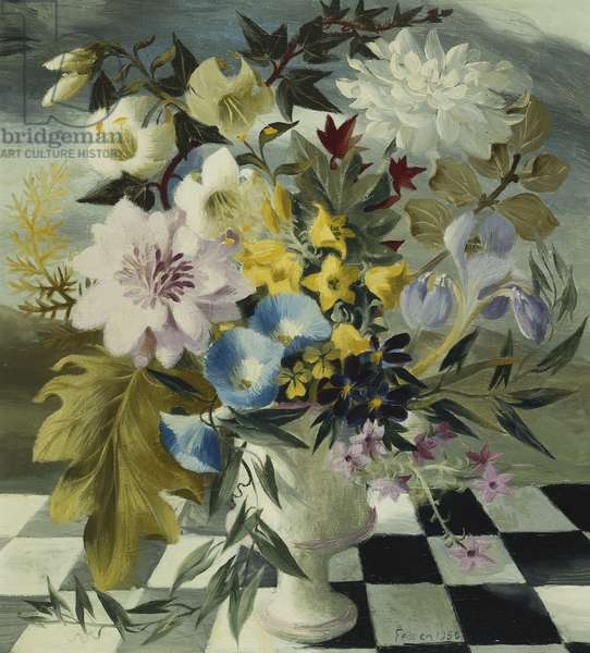 Summer Flowers, 1950 (oil on panel)