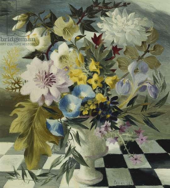 Summer Flowers, 1950 (oil on panel)