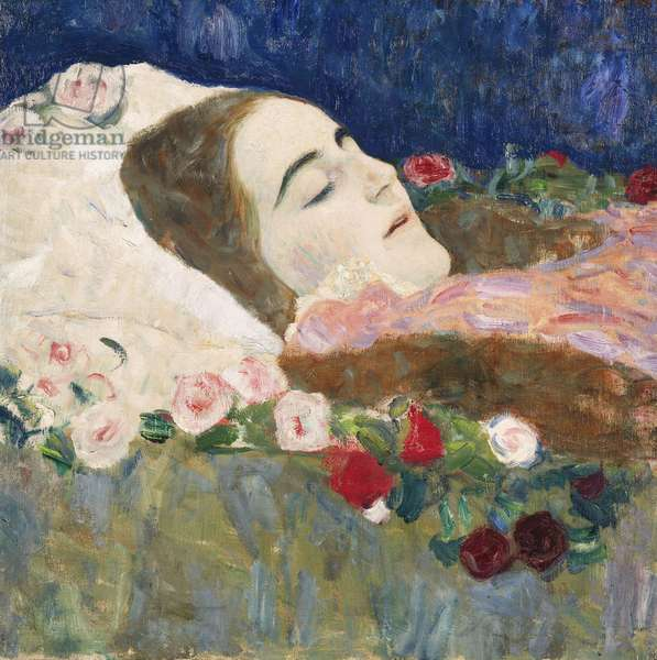 Miss Ria Munk on her Deathbed; Fraulein Ria Munk auf dem Totenbett, c.1910 (oil on canvas)