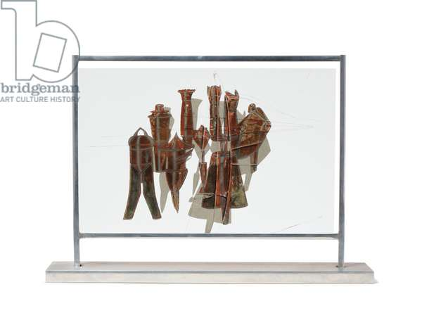 Nine Malic Moulds, 1937-38 (hand-coloured collotype on celluloid mounted in aluminium frame)