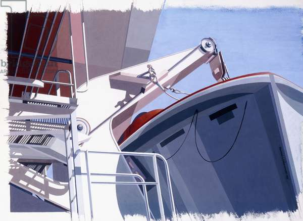 Life Boat Station No. 4, 1991 (watercolour and gouache on paper)