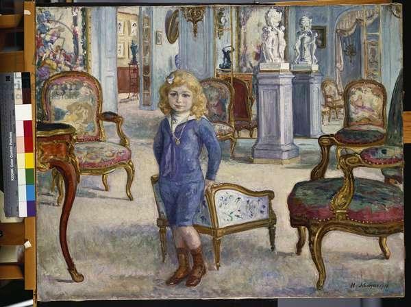 Paul de Camondo at the Hotel de Camondo, 1910 (oil on canvas)