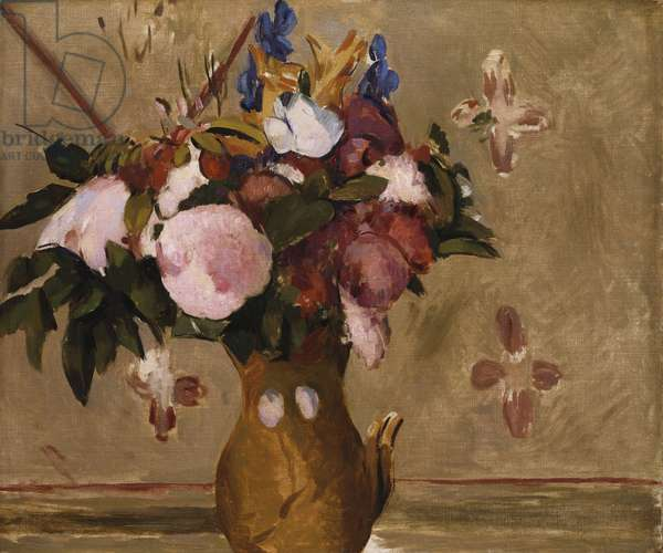 Flowers in a Vase, copy after a painting by Cezanne, c.1886 (oil on canvas)