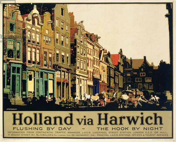 Holland via Harwich, c.1930 (colour litho)