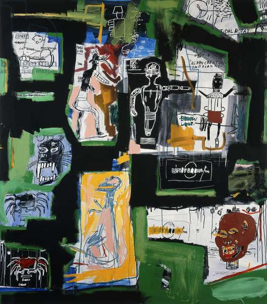 Untitled, 1984 (acrylic, oilstick and silkscreen on canvas)