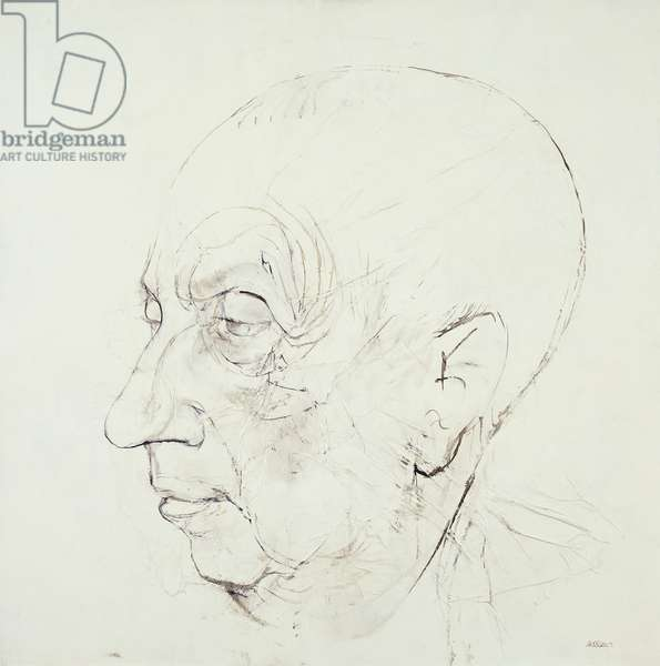 Portrait of Hans Arp; Bildnis von Hans Arp, (oil on paper)