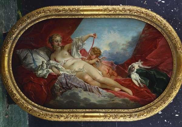 Venus and Cupid (oil on canvas)