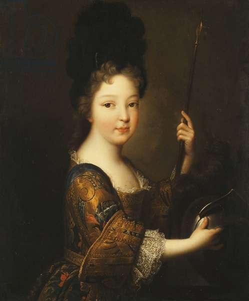 Portrait of a Girl, half-length, as Minerva,  (oil on canvas)