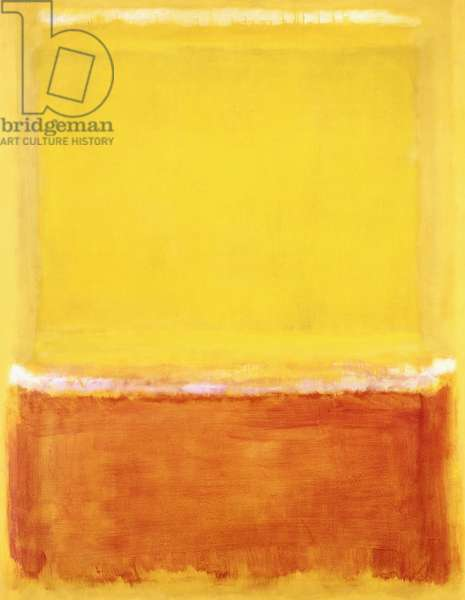 Untitled (White, Yellow, Red on Yellow), 1953 (oil on canvas)