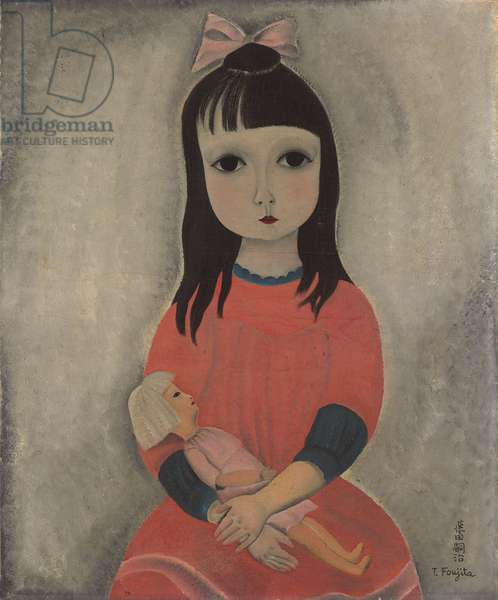 Girl with Doll; Fillette a la Poupee, 1918 (oil on canvas)
