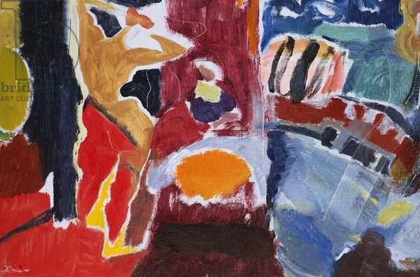 Interior Red Sunlight, 1960 (oil on canvas)