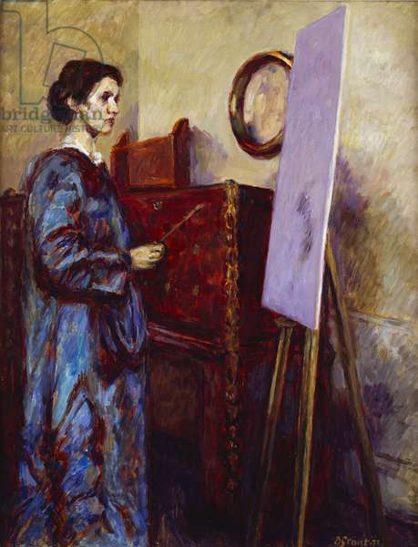 Vanessa Bell Painting, 1971 (oil on canvas)