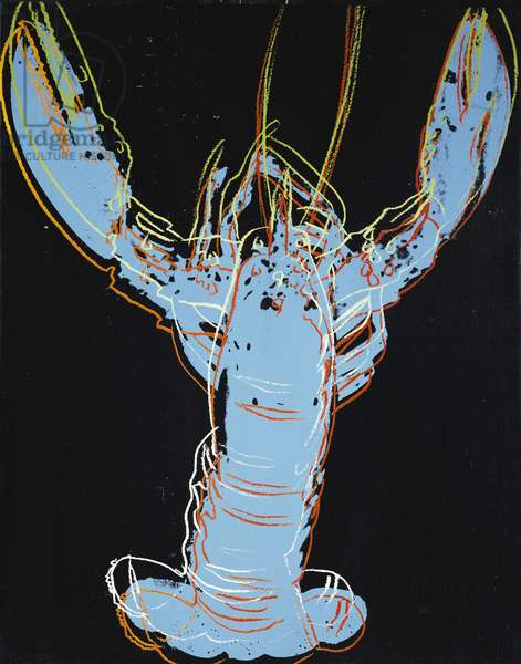 Blue Lobster, 1982 (synthetic polymer silkscreened on canvas)