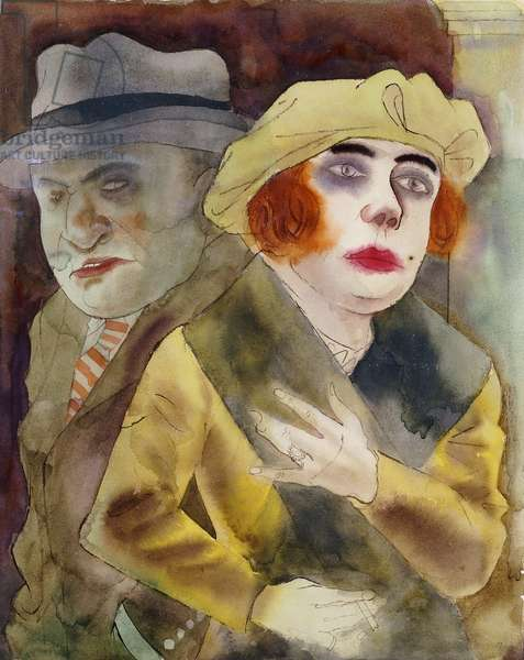 The Couple; Das Paar, c. 1922-24 (watercolour on paper)