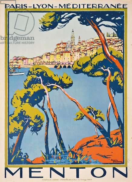 Advertising poster for Menton, c. 1922 (colour lithograph)