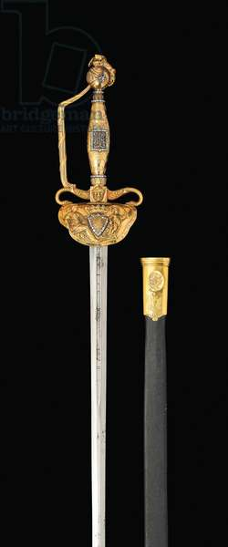 An important diamond-set gold-hilted sword, c.1814-15 (steel, gold & diamonds)